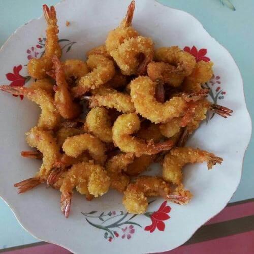 酥香凤尾虾