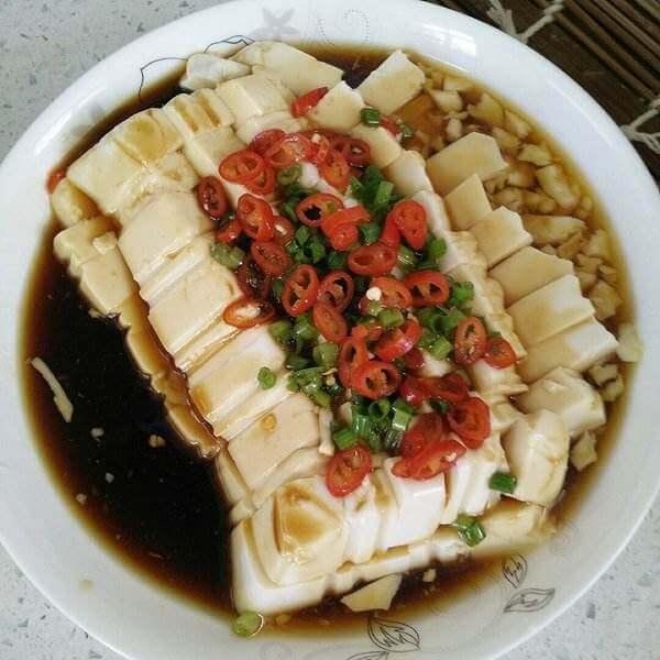肉末内脂豆腐