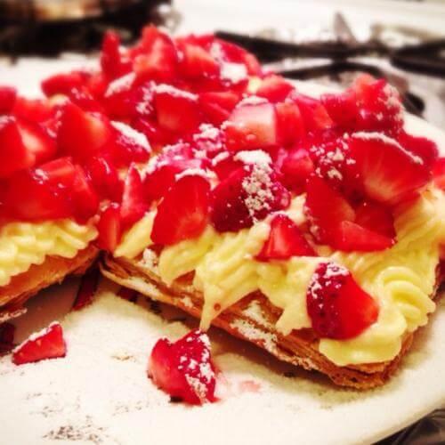 松露草莓塔