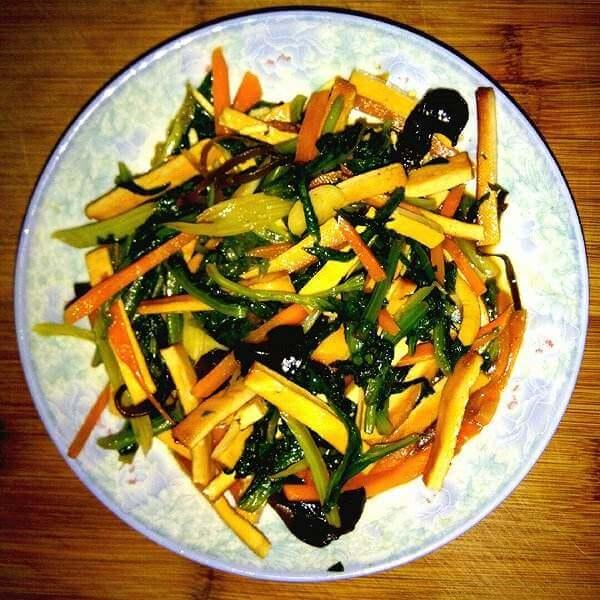 泰式甜辣豆干烩杂蔬