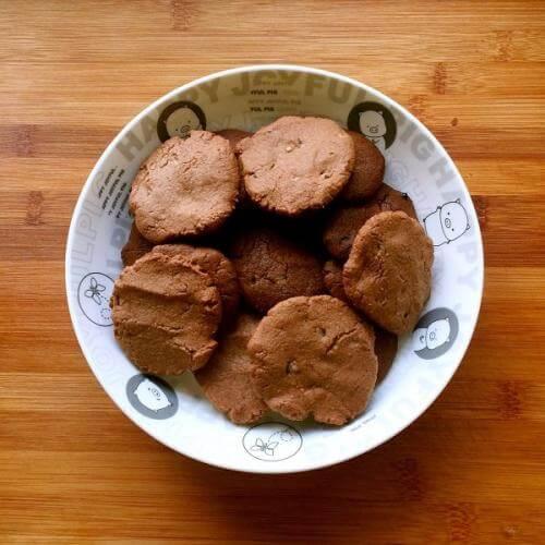 巧克力圆圆雪球饼干