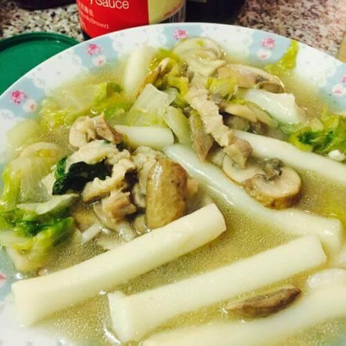 黄白菜炒肉