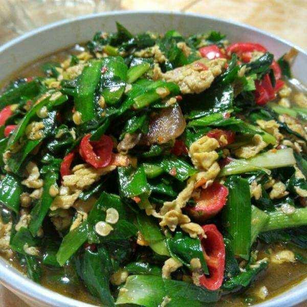 干贝煮韭菜
