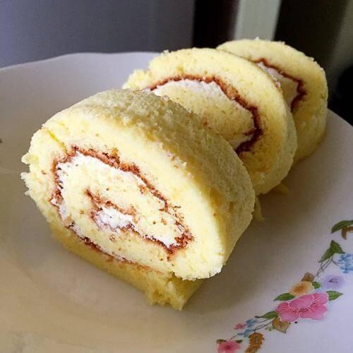 洛神果蛋糕卷
