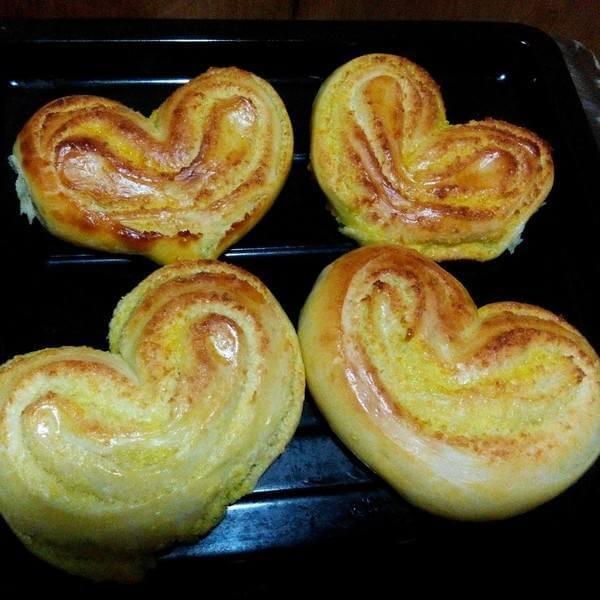 心形培根面包