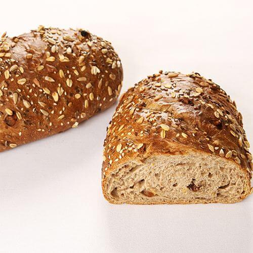 黑芝麻亚麻籽面包