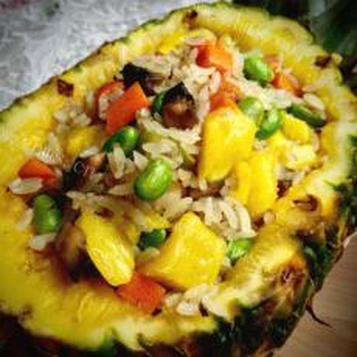 培根菠萝炒饭