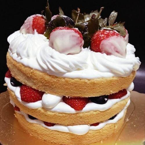 自发粉做蛋糕
