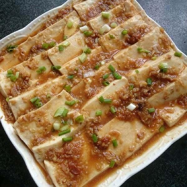 茶汁蒸豆腐