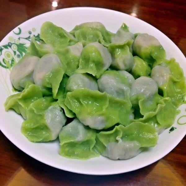 菠菜面饺子