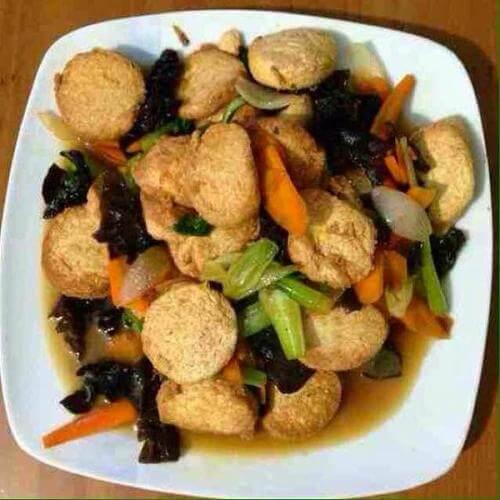 肉片烫日本豆腐