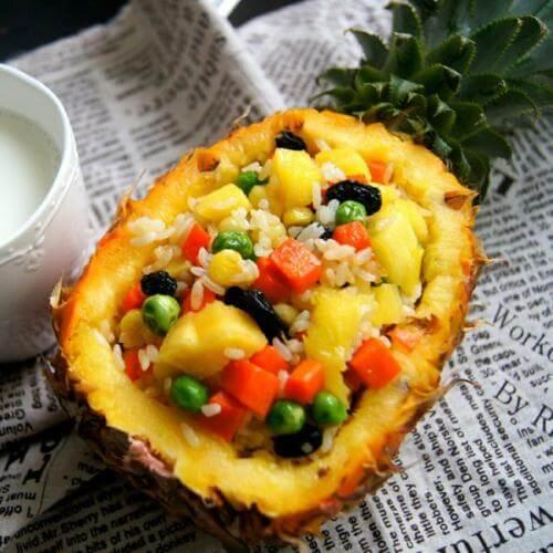 小酱菜做的菠萝饭