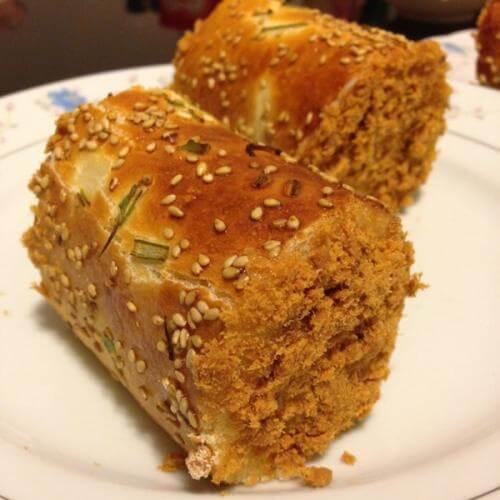 汤种肉松面包卷