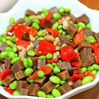 大头菜炒毛豆