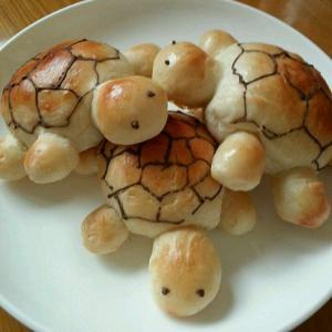 郁金香和小乌龟面包