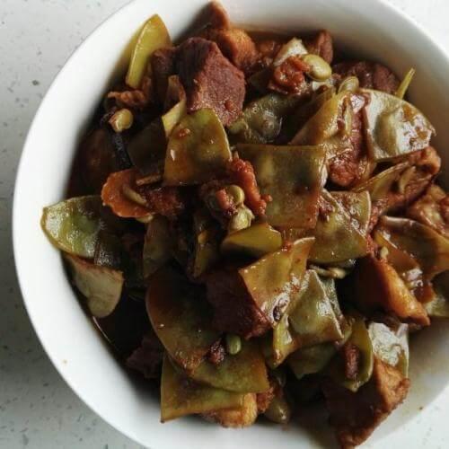 香菇焖扁豆