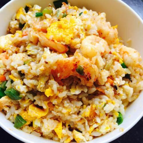 榄菜虾仁炒饭
