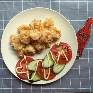 火龙果虾球