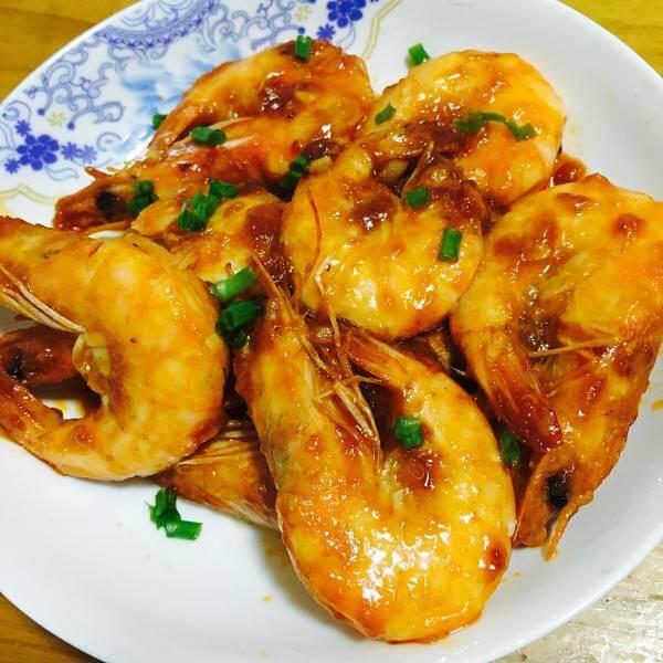 蟹粉凤尾大虾