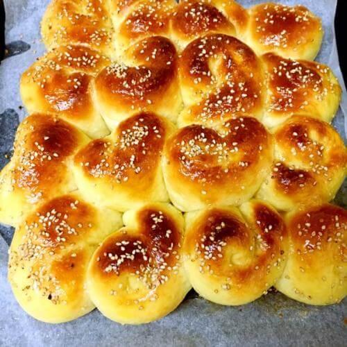 蜂蜜珍珠糖面包