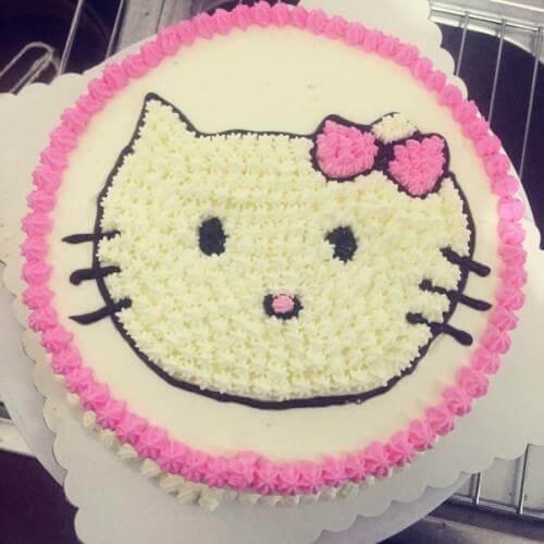 kitty奶油蛋糕