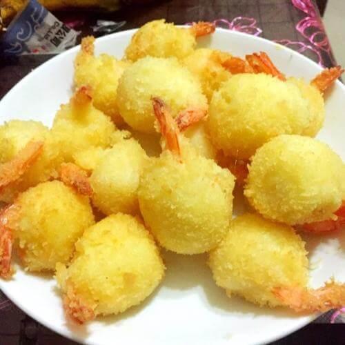 橙汁芝香虾球