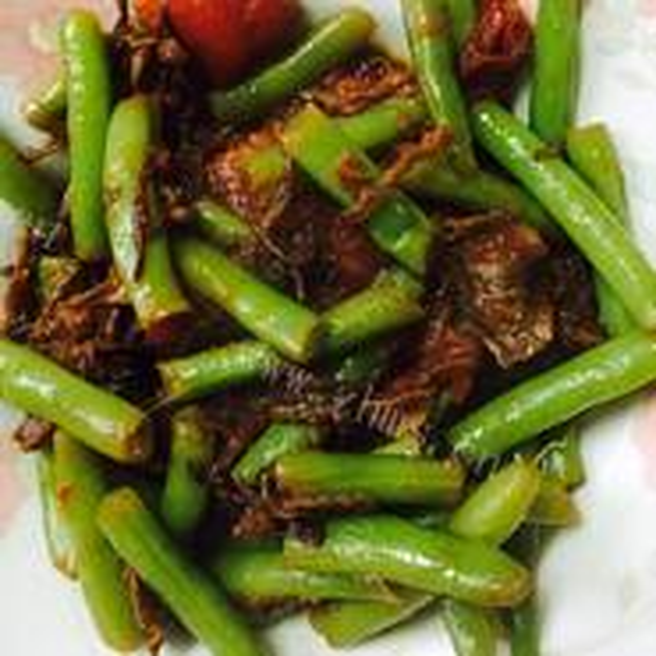 红辣椒炒四季豆