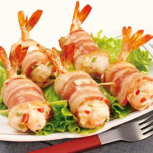 玉米虾肉卷