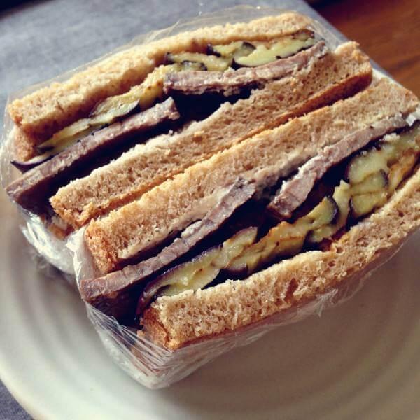 茄子三明治