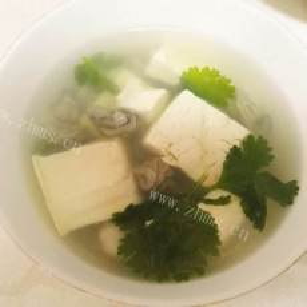 海蛎子肉炖豆腐