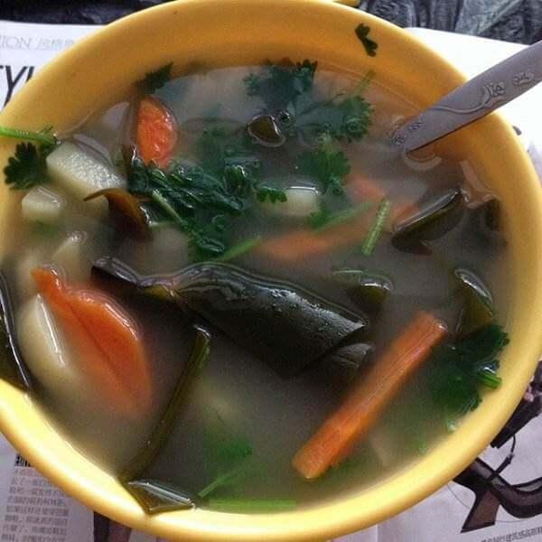 鲜蔬海带汤