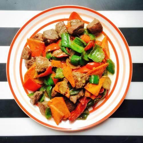 中式彩椒牛肉