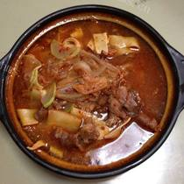 辣白菜牛肉汤