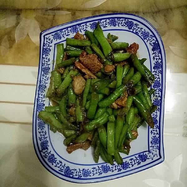 无丝豆炒肉