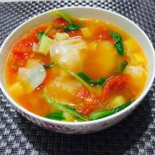 番茄虾仁面片