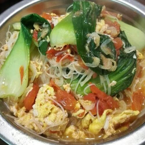 青菜虾皮汤