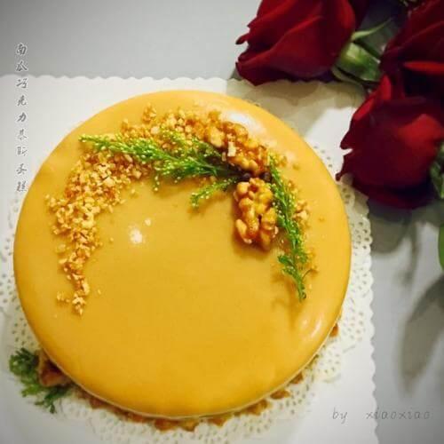 南瓜慕斯樱桃蛋糕