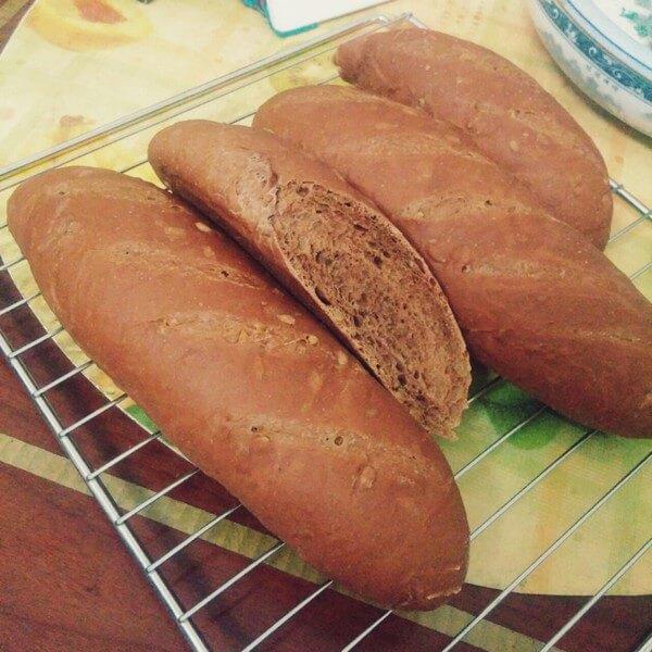 香软紫心面包
