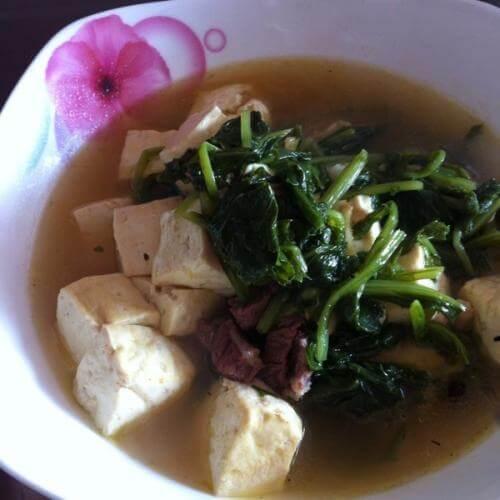 雪里红炖豆腐牛肉