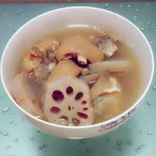 猪手花生汤