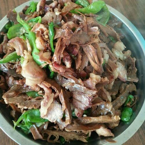 干笋青椒炒肉