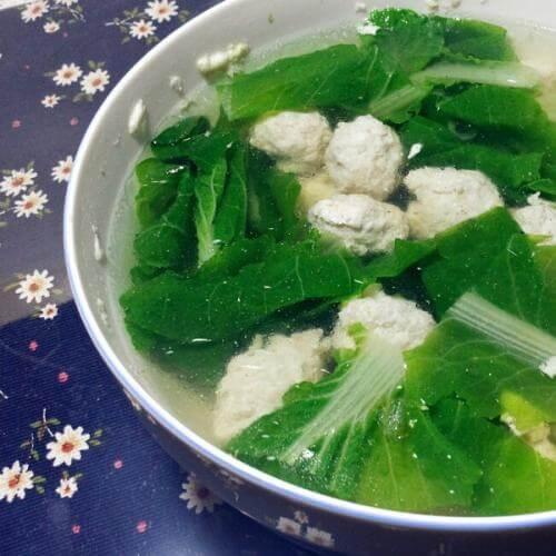 丸子白菜汤