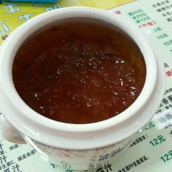 红糖桃花粥