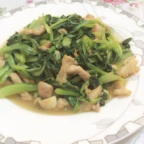 小油菜炒肉