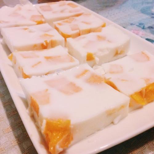 椰丝芒果冻糕