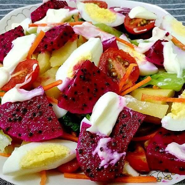 田园贝壳面蔬菜沙拉