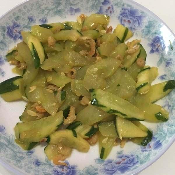 虾皮炒黄瓜