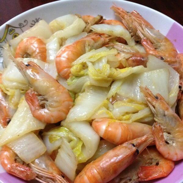 大虾烧白菜