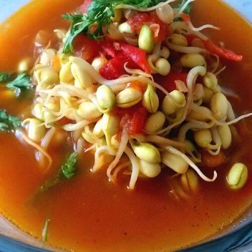 豆芽番茄汤