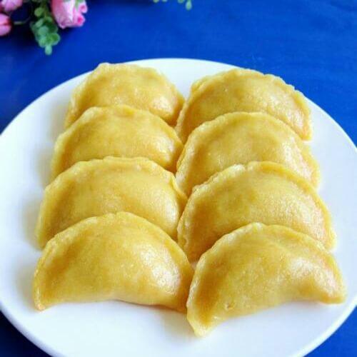 玉米面蒸饺